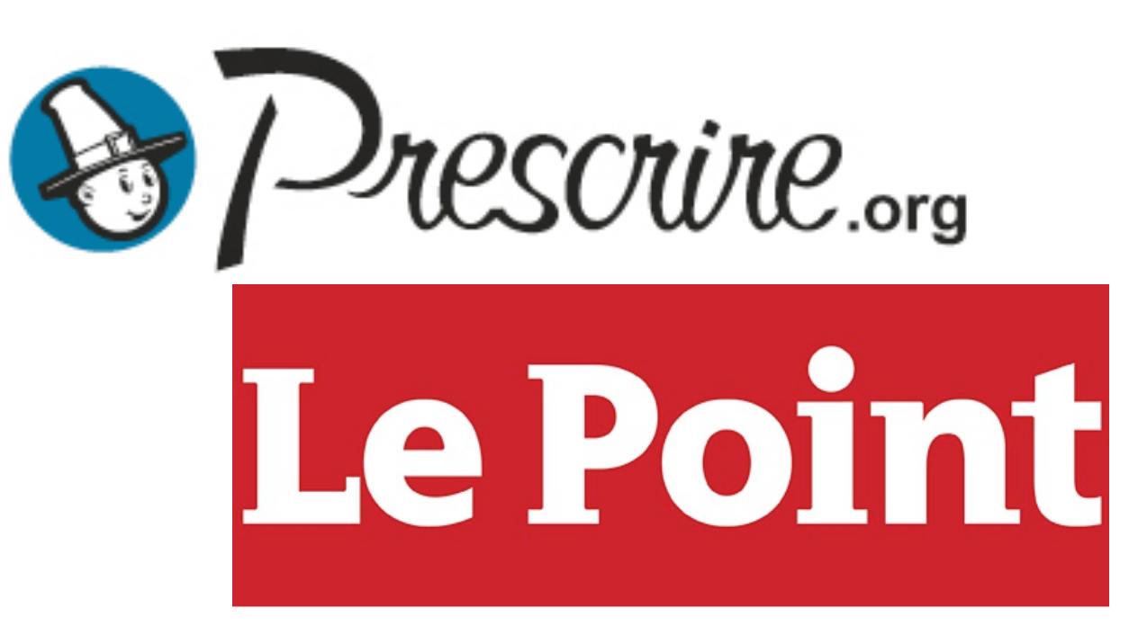 Logo de Prescrire et du Point